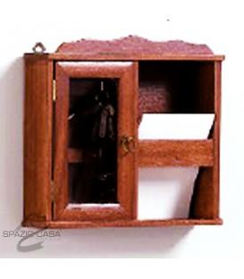 Bacheca porta chiavi e posta in legno