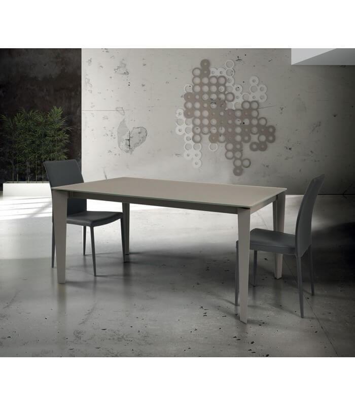 Tavolo moderno allungabile in vetro - Spazio Casa