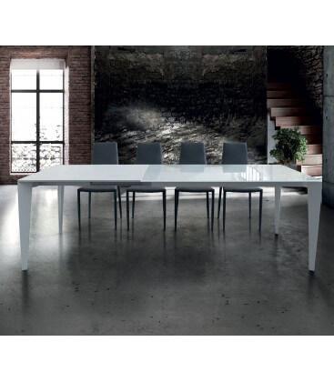 Tavolo moderno allungabile in vetro