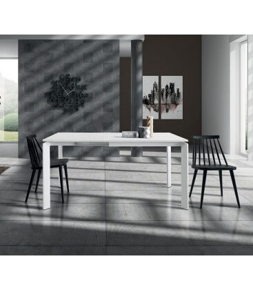 Tavolo moderno allungabile bianco frassinato