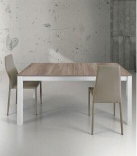 Tavolo allungabile in legno bicolore