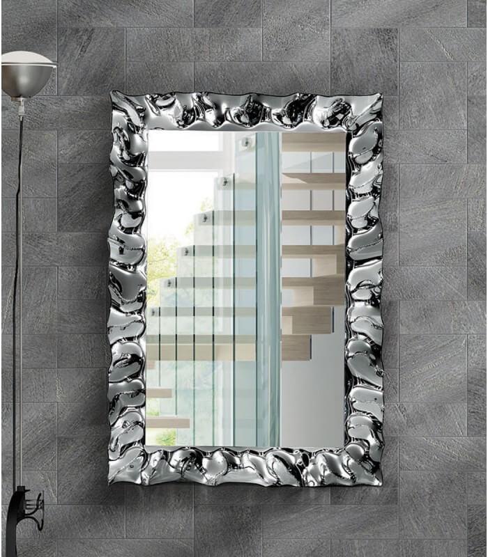 Specchio con cornice moderna argento - Specchio argento moderno ...