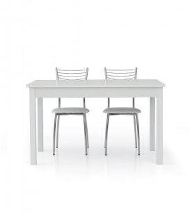 Tavolo bianco frassinato con allunga
