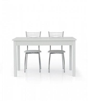 Tavolo bianco frassinato con un'allunga