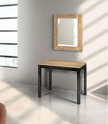 Specchiera moderna in legno prima patina