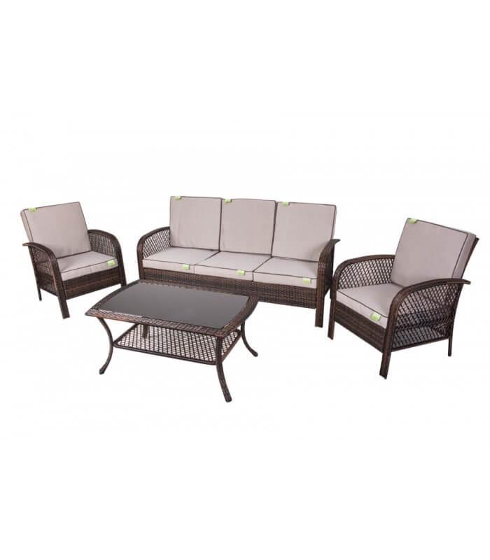 Set sof per arredo esterno coveri 5 posti spazio casa for Arredo e sofa