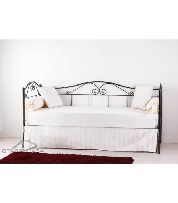 Mantovana copri rete per divano letto in ferro for Rete letto matrimoniale ikea