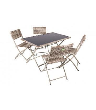 Set tavolo + 4 sedie Space Coveri Garden