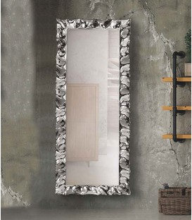 Specchio moderno 170x70 con cornice argento in vetro