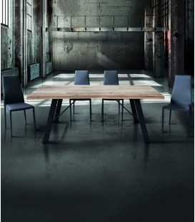 Tavolo moderno in legno massello nodo aperto