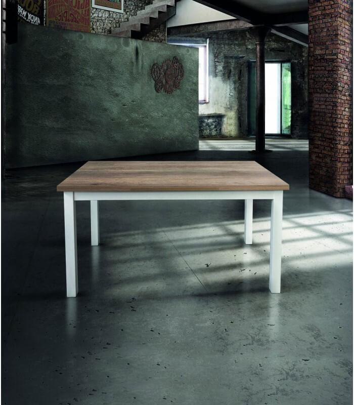 Tavolo moderno allungabile con piano in legno naturale - Spazio Casa