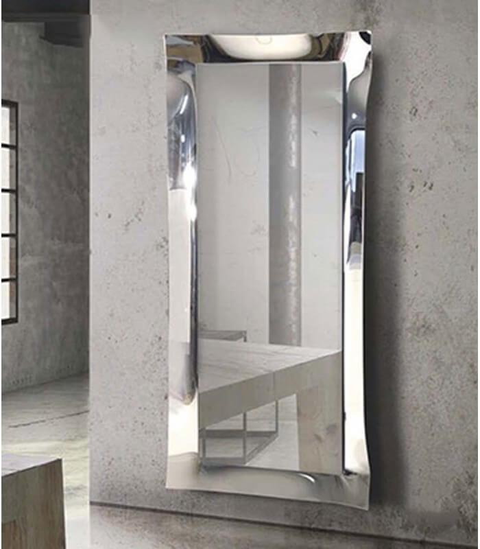 Specchiera 170x70 in vetro rifinito in argento nebulizzato for Specchio argento moderno