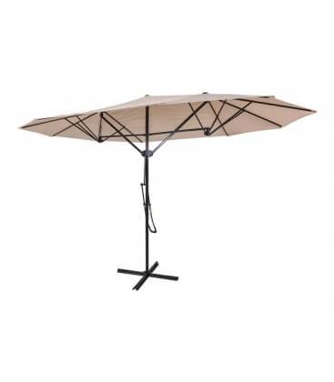Ombrellone parasole Ecrù Coveri Garden 2,5 x 4,3 m palo laterale base a croce