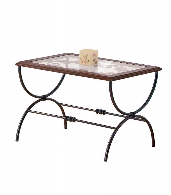 Tavolino rettangolare sidney in ferro battuto for Tavolini da esterno in ferro