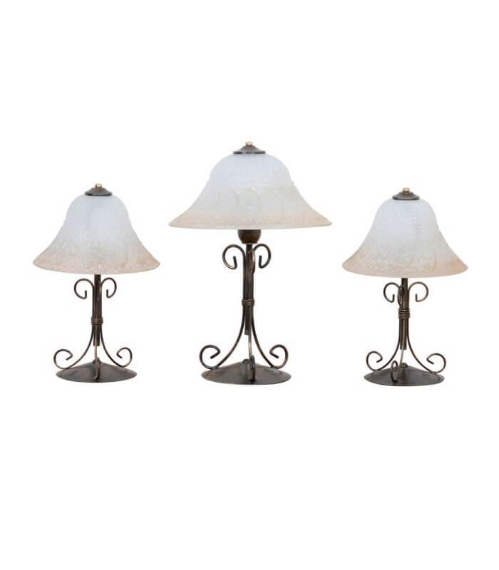 Tris lampade da tavolo sole for Lampade piccole da tavolo
