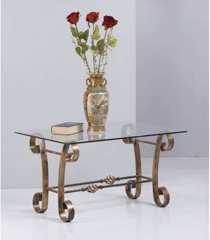 Tavolino Rettangolare in Ferro Battuto