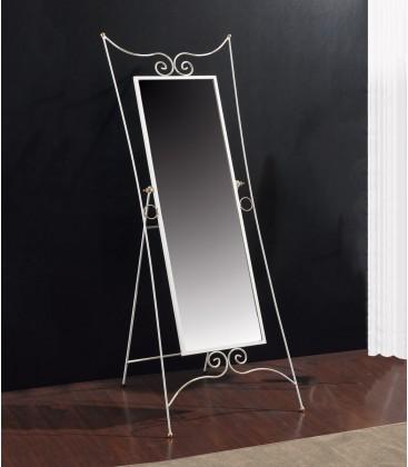 Specchiera pieghevole con cornice in legno