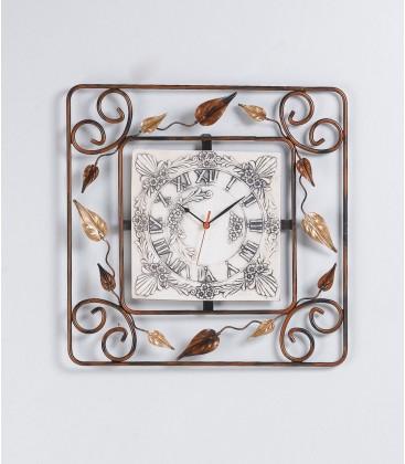 Orologio quadrato 55 foglie