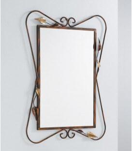 Specchio da parete con foglie