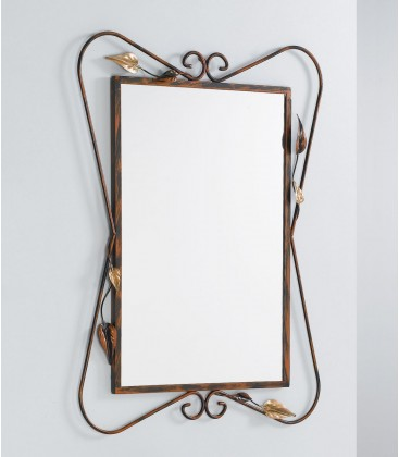Specchio a parete con foglie