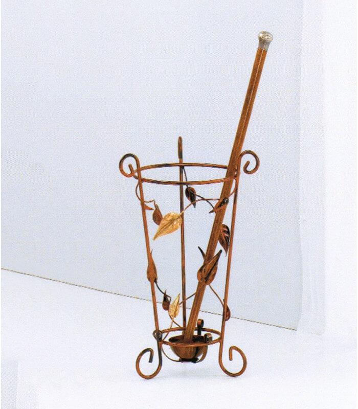 Porta ombrelli in ferro foglie - Ferro battuto porta ...