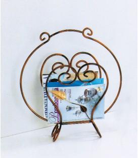 Porta riviste in ferro Foglie