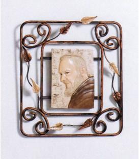 Quadro Padre Pio in ferro