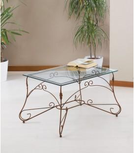 Tavolino rettangolare Ariel piano vetro
