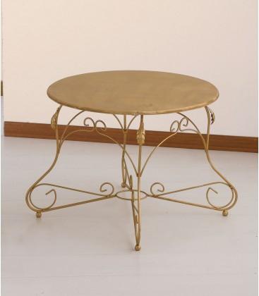 Tavolino tondo Ariel piano legno