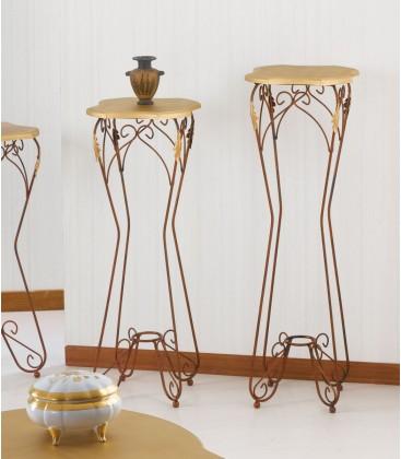 Alzatina porta oggetti Ariel piano legno altezza 80 cm