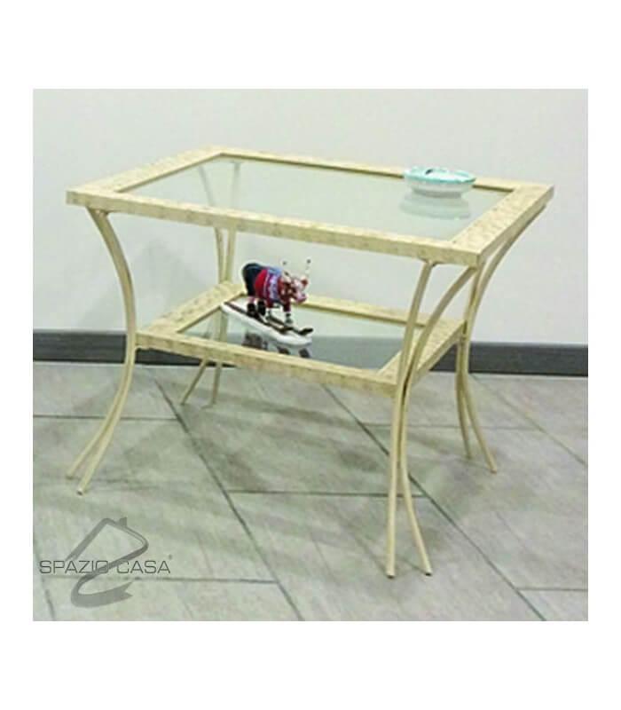 Tavolini in vetro e ferro battuto tavolino comodino ferro for Tavolini in legno e vetro