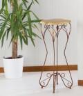 Alzatina porta oggetti Ariel in ferro piano legno