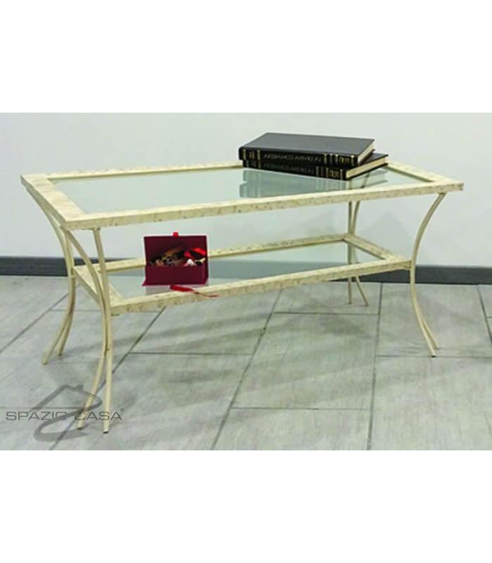 Tavolino da salotto in legno con piedi in ferro e ripiani in vetro.jpg