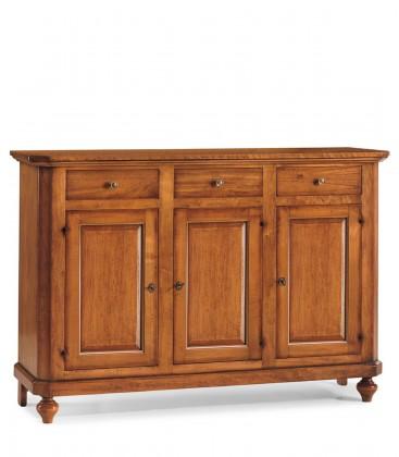 Credenza in legno arte povera 3 porte 3 cassetti