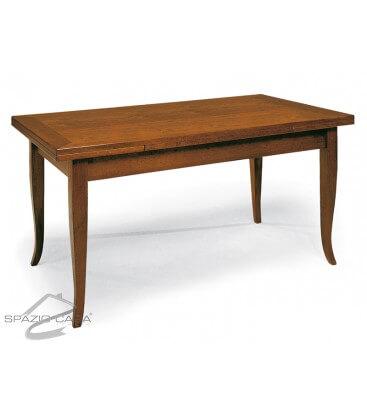 Tavolo rettangolare in legno piede a sciabola
