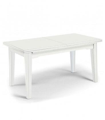 Tavolo classico in legno con piede dritto