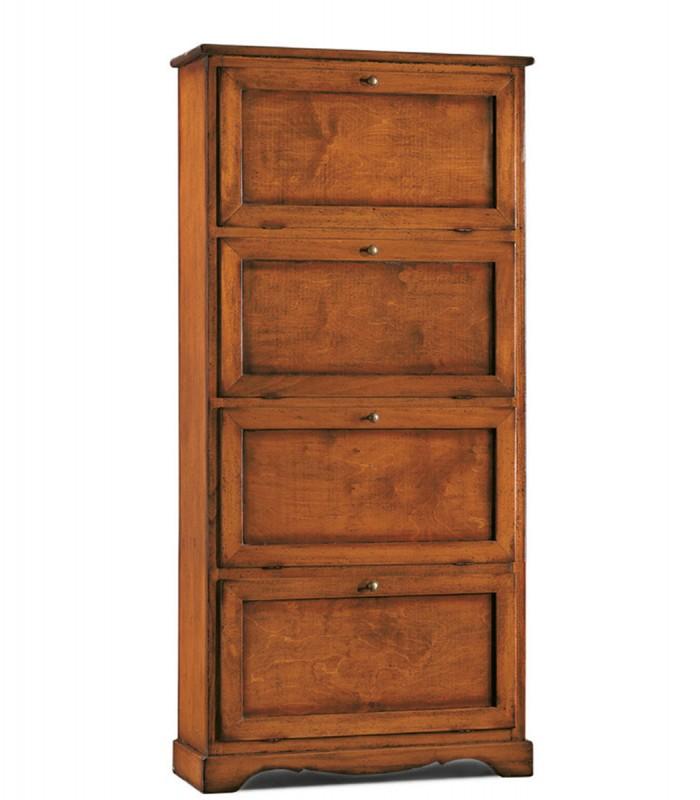 Scarpiera in legno 4 scomparti - Spazio Casa