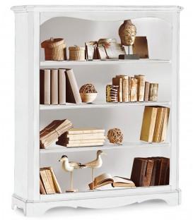 Libreria in legno a giorno zoccolo aperto