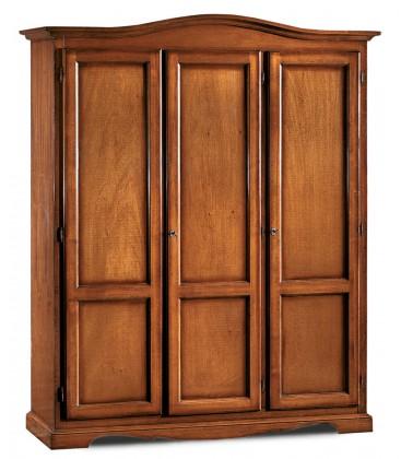 Armadio classico in legno 3 porte