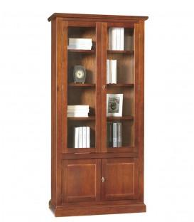 Libreria Classica Legno 2 Ante Vetri