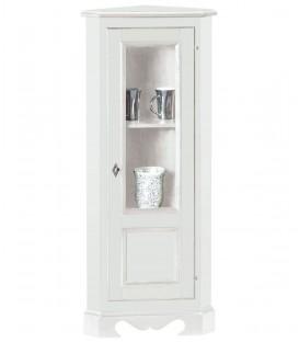 Mobiletto Angolo 1 porta 1 cassetto laccato bianco