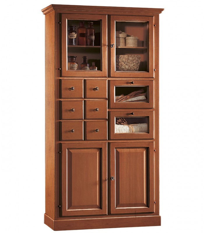 Dispensa alta legno cucina for Dispensa legno