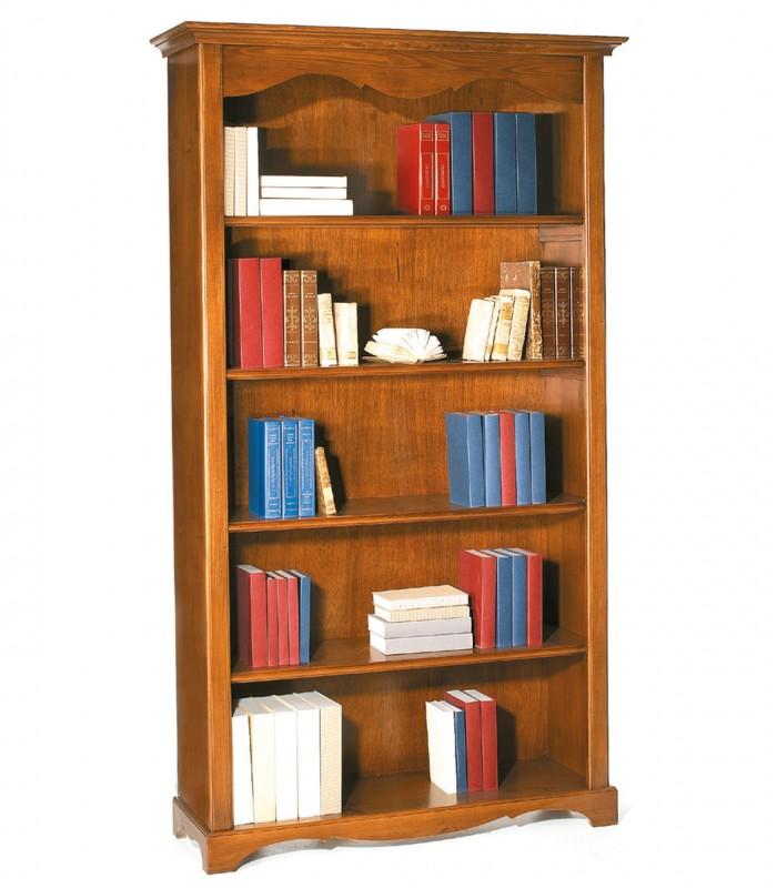 Libreria classica in legno 4 ripiani zoccolo aperto for Librerie economiche on line