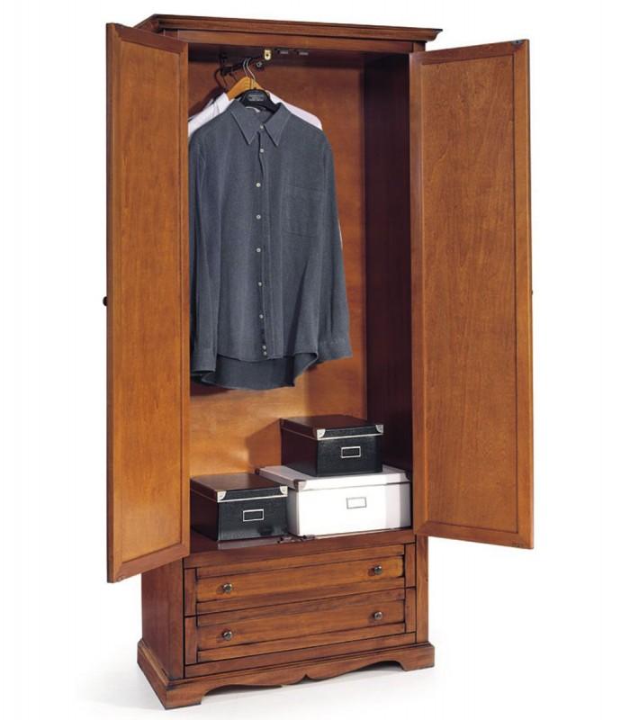 Armadio 2 Ante Legno : Armadio in legno ante cassetti spazio casa