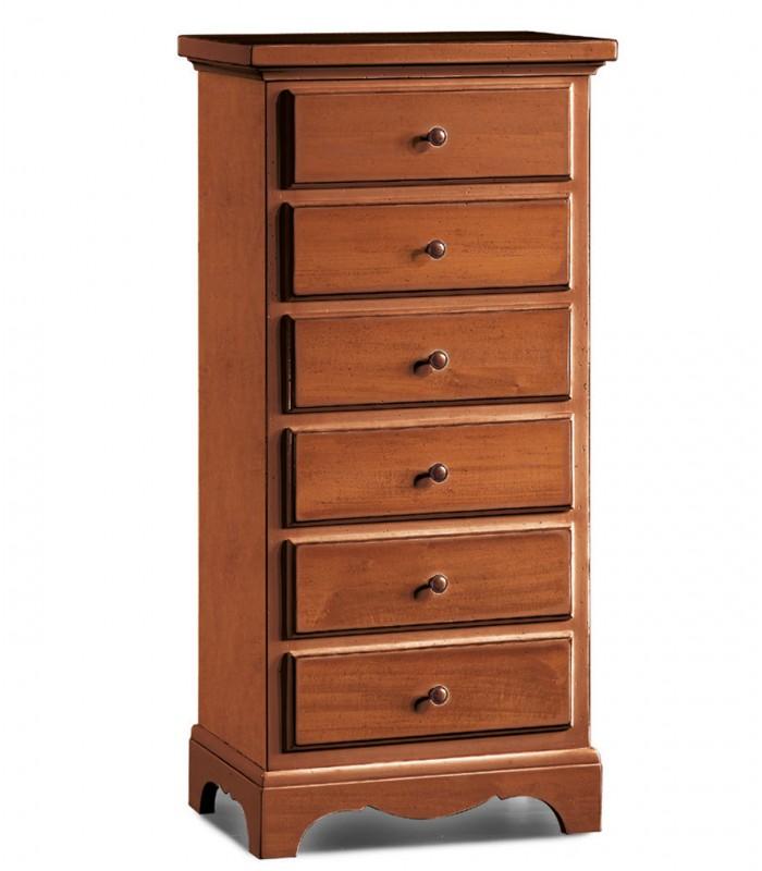 Cassettiera piccola in legno 6 cassetti spazio casa for Piccola casetta in legno