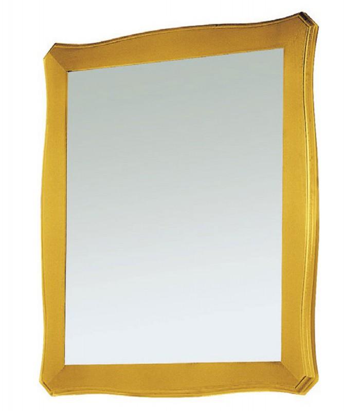 Specchio con cornice in legno sagomata spazio casa - Specchio con cornice ...