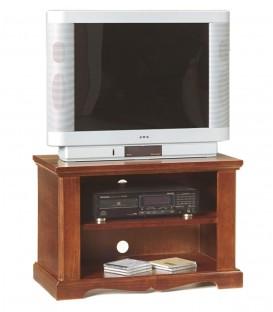 Porta TV legno noce arte povera 1 ripiano