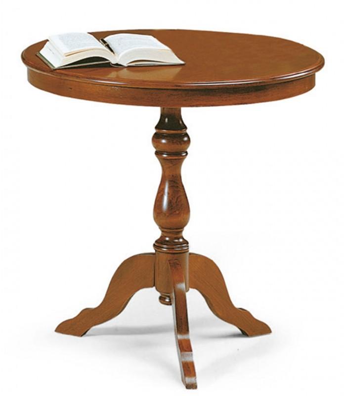 Tavolino in legno tondo da salotto - Spazio Casa