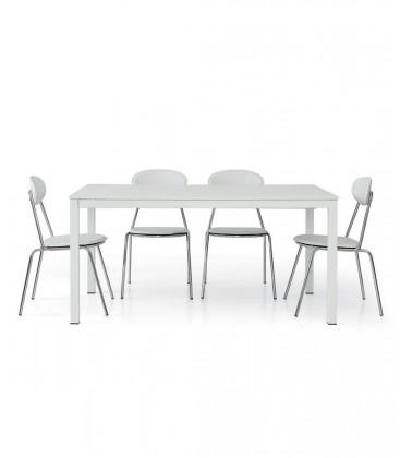 Tavolo bianco frassinato METAL