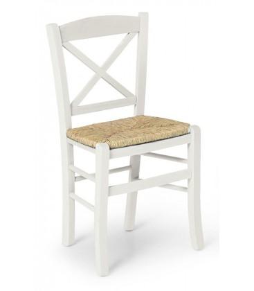 Sedia Croce seduta paglia